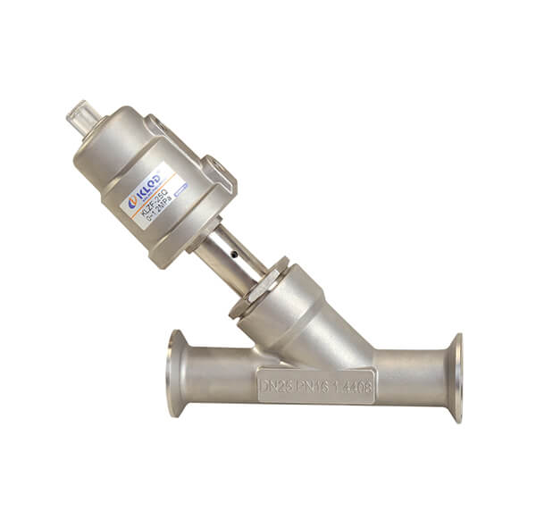 Tri-clamp Connection Angle Seat Valve 2