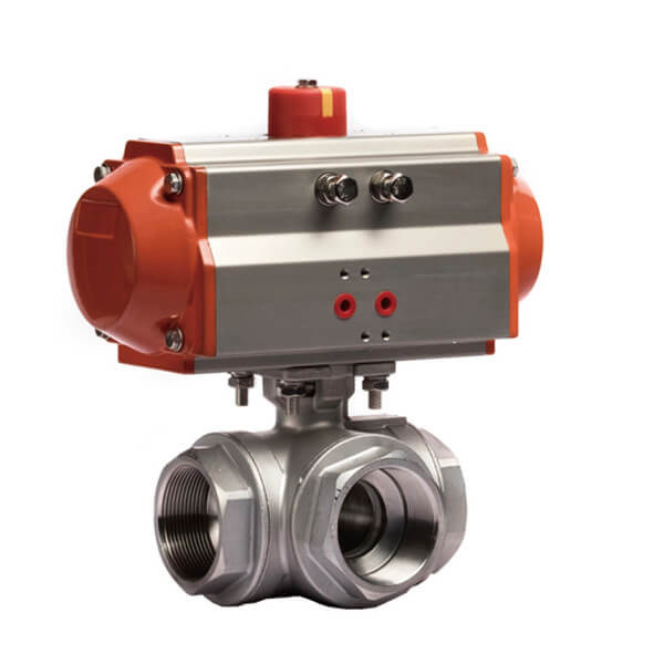 PNEUMATIC Thread Type 3 WAY BALL VALVE