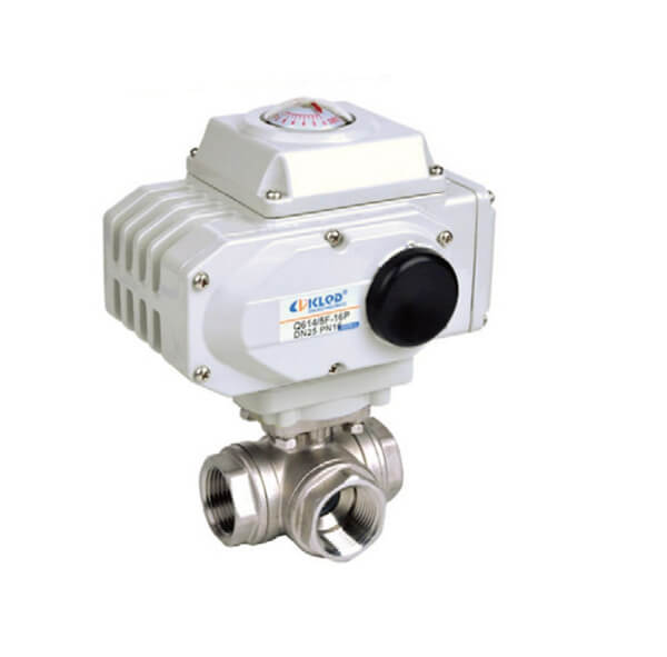 Electric Thread Type 3 WAY BALL VALVE