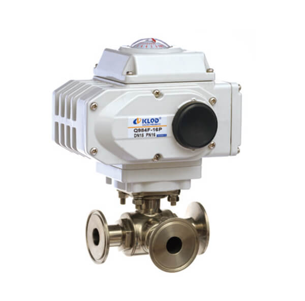 Electric Sanitary Type 3 WAY BALL VALVE