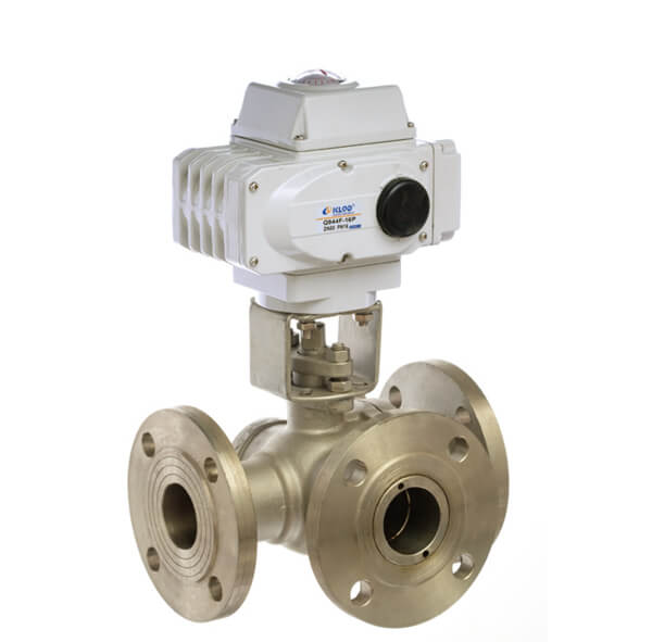 Electric Flange Type 3 Way Ball Valve